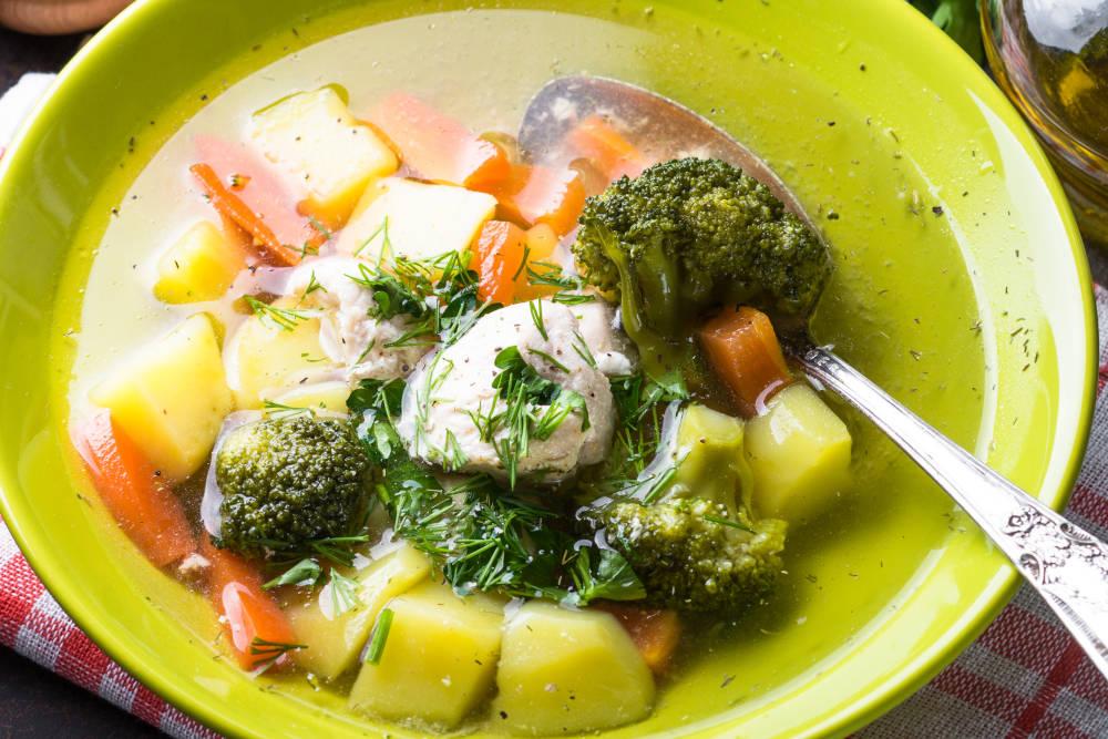 supa pui legume